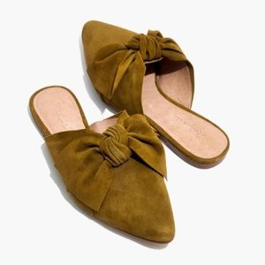 MADEWELL The Remi Bow Mule Spiced Olive